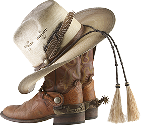 cowboy hat and boots photo